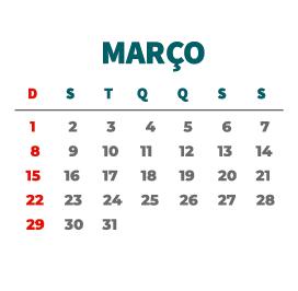 Mês de Março